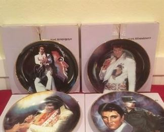"Ernst ""Elvis Remembered"" Collectible Plates, Issues 1-4 https://ctbids.com/#!/description/share/185025"