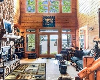 GORGEOUS Room full of Rustic Log Pine Furnishings and Decor!