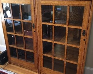 Pair of Restoration Hardware Stickley style Bookcases