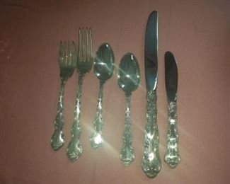 Gorham service for 8. Sterling silver flatware set . Just discovered