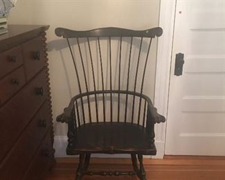 Excellent Reproduction fan back windsor chair