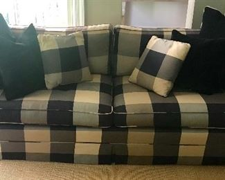 One of a pair of Baker sofas
