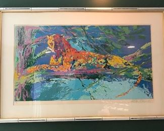 LeRoy Neiman Kenya Leopard signed lithograph