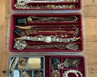 Only a portion of the jewelry for sale