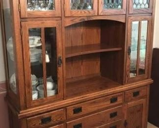 2 Oak Cabinet