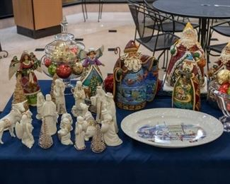 Lenox nativity set, Jim Shore collection, Christmas, etc.