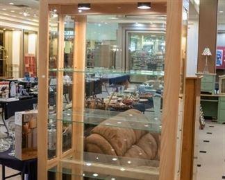 Blond curio cabinet!