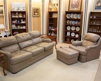 Sofa, loveseat, and ottoman!