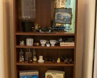 Many Collectibles!  General Electric vintage radio, vintage clocks, TS21 Lineman's Test Set, and more!
