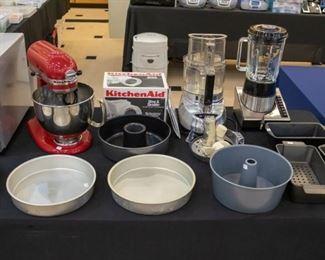 KitchenAid Artisan MIxer, Cuisinart Blender, Cuisinart Food Processor, bake ware...