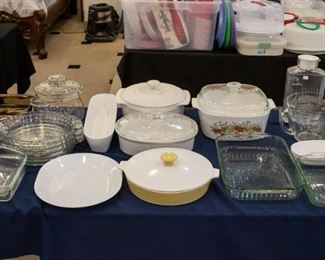 Covered Casserole dishes, NICE deep dish pie plates...