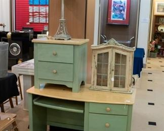 desk, nightstand and curio!