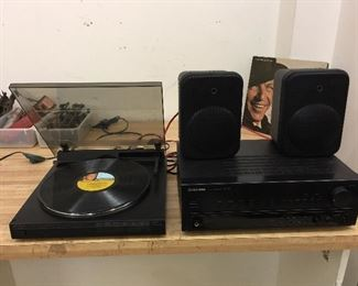 Optimus Lab - 2250 turntable & Pioneer amp receiver.