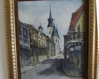 Well executed French Quarter New Orleans Oil Painting