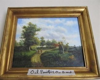 Small English Oil Painting on Board Well Executed