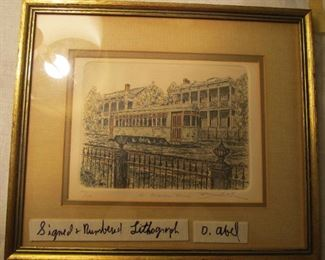 New Orleans artist David Abel Signed & numbered lithograph