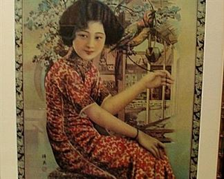 Three vintage Japanese advertising prints