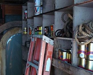 old doors and oil cans