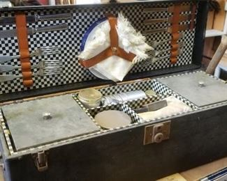 circa 1920's Picnic suitcase