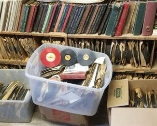 Huge collection of 78 rpm records, including many of the one sided ones