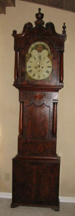 1831  8ft tall Grandfather Clock - The chimes sound like a train bell - Handed down generations - Works great!
