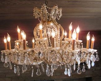 1950's Italian Crystal Chandelier Imported from Italy