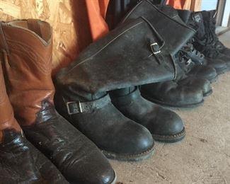 Boots: some Harley Davidson