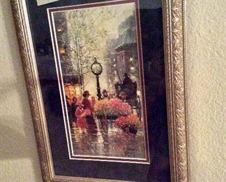 G. Harvey, Fifth Avenue Vendor 1993, 12 X 17 framed. 1112/1950