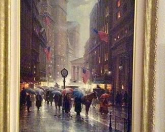 G Harvey, Canyon of Dreams, Wall Street, on canvas