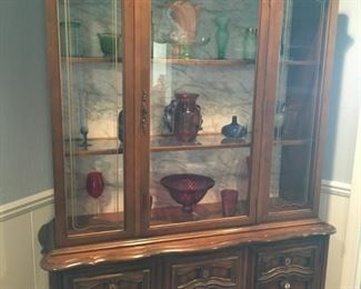This is a beautiful French Provincial china cabinet!