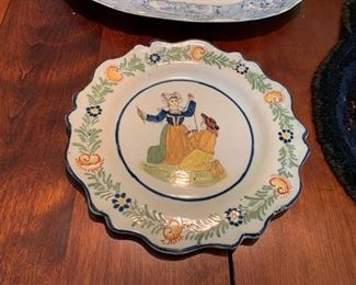 French Faience plate (one of many).