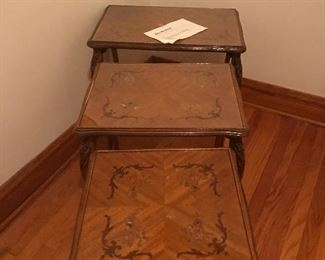 1950's matching set of 3 nesting tables. Buy now $75