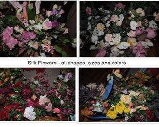 lots of all type of silk flowers