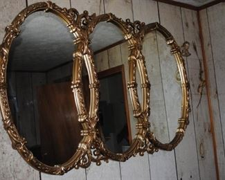 Triple gold frame mirror - we have 2!
