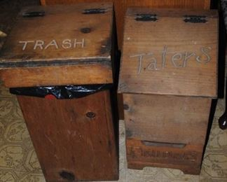 Trash and Tater bins