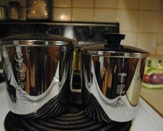 Stainless coffee and tin canisters