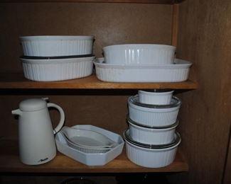 White Corning Ware