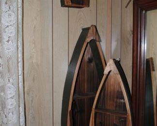 Set of 3 canoe/boat shelves