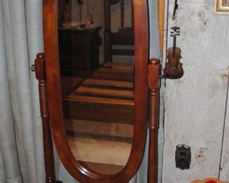 Ornate dressing mirror