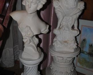 Some of the bust and columns