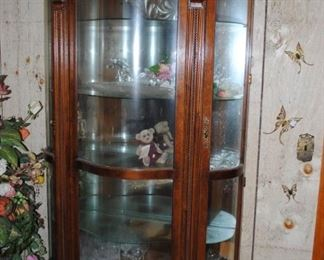 Large curio cabinet - lighted