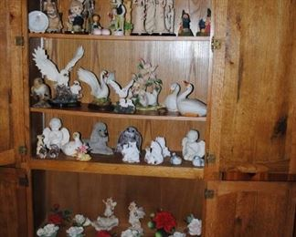 Birds, roses, and all sorts of figurines