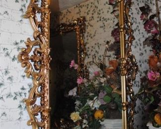 Ornate large mirror - there are 2 matching ones