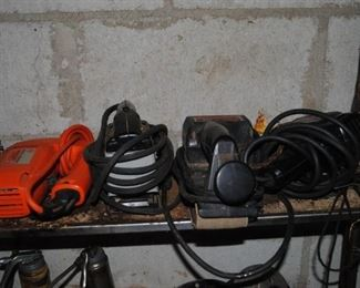 Assorted power tools - Black and Decker, Craftsman and others     Sander, drill , jig saw