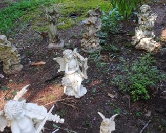 Great collection of outdoor angels - some have been kept inside until now