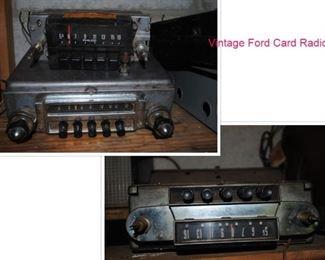 Vintage Ford Car radios