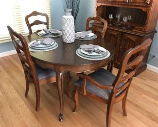 Cherry wood dining table from Marshall Fields