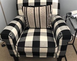 Very cool Buffalo plaid upholstered chair