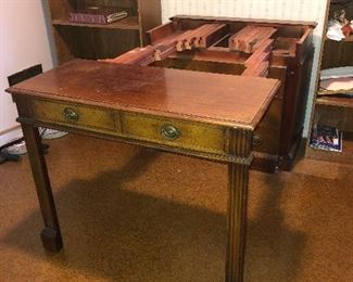 Antique buffet with expanding table