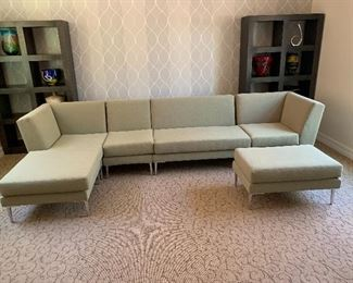 Design within Reach Fabric Sectional Sofa w/ Chaise 32x138x66inHxWxD